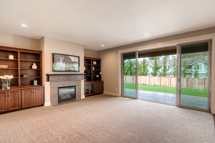Great room with open concept