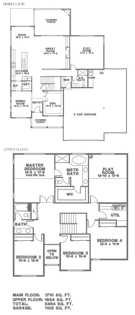 Hunter 11 3444 Sq Ft 3 Car Hunter Homes Building