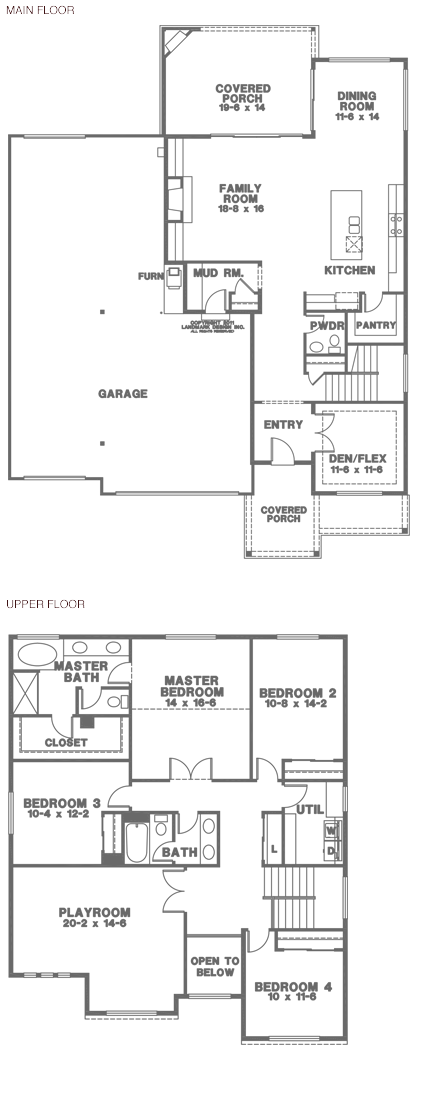 Hunter 9 2940 sq ft floor plan